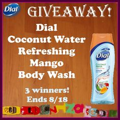 Low entry #giveaway! #GetNoticed with @Dial Coconut Water Refreshing Mango Body Wash! THREE winners! Ends August 18 (11:59pm).