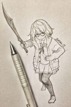 she looks like one of those doodle warriors