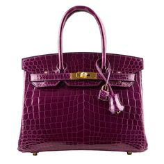 Hermes Cassis Niloticus Crocodile Birkin 30cm Gold Hardware | From a collection of rare vintage top handle bags at https://www.1stdibs.com/fashion/handbags-purses-bags/top-handle-bags/