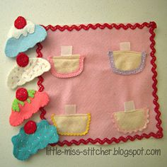 Little Miss Stitcher: The Little Sister Quiet Book: Cupcakes!
