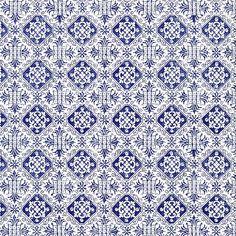 Dark Blue Tiled Italian Paper ~ Tassotti
