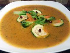 Vegan Fasten - Tag 5 - Kunterbunte Cremesuppe mit Karotten, Brokkoli und Zucchini