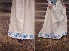 Bielo-modrá kohútiková sukňa - To Slovensko naše