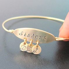 Personalized Sister Bracelet, Personalized Sister Jewelry, Custom Sister Gift, Sister Maid of Honor Gift, Sisters, Best Friend Bracelet
