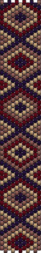The Bead Guide: Peyote Bracelet Pattern: Diamonds and Coal