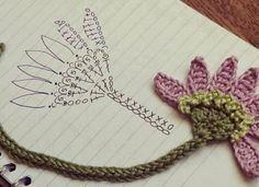 Cantinho da Jana: Gráfico marcador de página de crochê