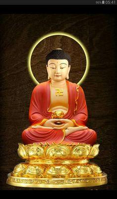 Amitabha Buddha, Gautama Buddha, Buddhist Monk, Buddhist Art, Peaceful Words, Chinese Mythology, Buddha Zen, Osho, Beautiful Pictures