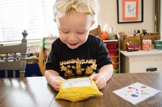 Dino I Spy Bag.  Great travel activity for toddlers.