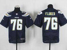 San Diego Chargers #76 D.J.Fluker Elite Jersey Navy Blue