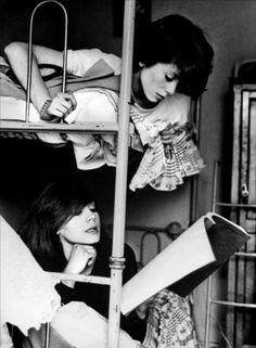 Catherine Deneuve with sister Françoise Dorléac