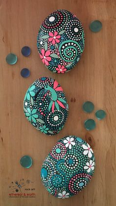 Painted Stones, Hand Painted Rocks, Stone Art, Rock Art, Painted Rocks, Hand…