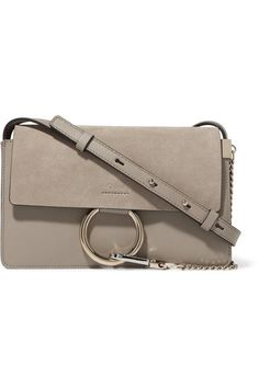 Chloé   Faye small leather and suede shoulder bag   NET-A-PORTER.COM