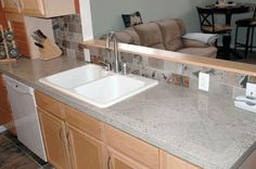 Tile countertops granite tile countertops practical and for Porcelain countertops cost