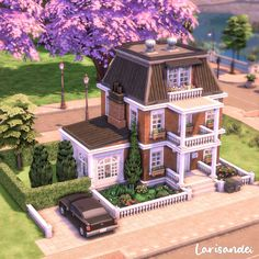 Sims 4 House Plans, Sims 4 House Building, Sims 4 Houses Layout, House Layouts, Sims 4 House Design, Casas The Sims 4, Sims 4 Build, Dream House Exterior, Sims 4 Custom Content