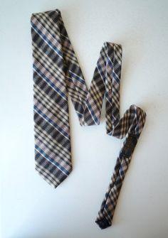 Vintage Mens 50s Wool Plaid Neck Tie Austin by ShantyIrishVintage