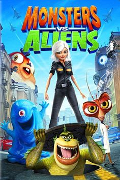 Monsters vs Aliens (2009) | http://www.getgrandmovies.top/movies/18553-monsters-vs-aliens | When Susan Murphy is unwittingly clobbered by a meteor full of outer space gunk on her wedding day, she mysteriously grows to 49-feet-11-inches. The military jumps into action and captures Susan, secreting her away to a covert government compound. She is renamed Ginormica and placed in confinement with a ragtag group of Monsters...