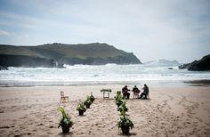 Stunning Irish wedding ceremony styled by Aislinn Events (I've actually stood right on this beach! Celtic Wedding, Irish Wedding, Irish Beach, Alternative Wedding Venue, Ireland Wedding, Wedding Videos, Wedding Locations, Videography, Great Photos
