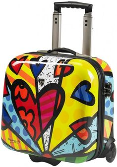 26701b8c7 Britto Luggage Pop Art Design, Arte Pop, Everyday Objects, Art Club, Fun