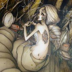 """Metamorphosis, 2009 (I think? Blast from the past!) #artoftheday #illustration #markers"""