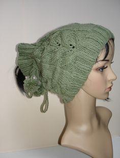 Mützen - Mütze - Kragen - Rundschal - grün - ein Designerstück von ASLK bei DaWanda