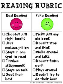 Real reading rubric. teacherkarma.com