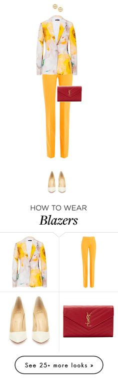 """""""A walking egg"""" by xoxomuty on Polyvore featuring Victoria, Victoria Beckham, Christian Louboutin, Yves Saint Laurent and Tory Burch"""