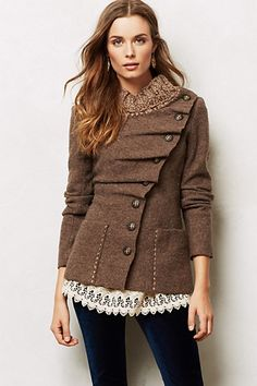 Sweater Coat and lace
