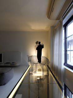 Loft Twins in Milan // Frederico Delrosso Loft Design, House Design, Downtown Lofts, Diy Wood Bench, Small Balcony Design, Layered Curtains, Interior Architecture, Interior Design, Loft Room