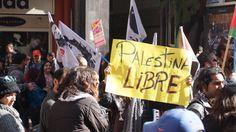Palestinos en el centro de Santiago
