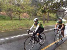Cycling in the rain up Constantia Nek