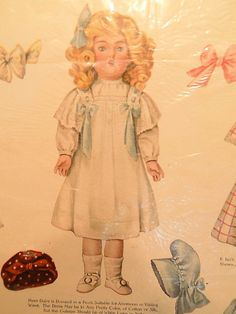 Lettie Lane Kestner 171 Daisy Paper Dolls 1911 Original Advertisement for Doll | eBay