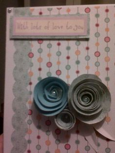 Using paper scraps helps me come up with new ideas - really like paper flowers.