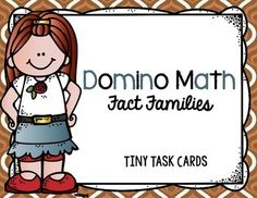 Fact Families:  Domino Math Tiny Task Cards