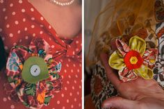 Pretty corsages made at our latest hen party