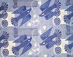 Cyprus furnishing fabric, by Marion Dorn. Dundee, UK, 1936. EDITORIAL USE ONLY