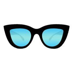 Quay Eyeware Blue Kitti Sunglasses ($33) ❤ liked on Polyvore featuring accessories, eyewear, sunglasses, uv protection glasses, quay sunglasses, cat eye glasses, blue sunglasses and blue lens glasses