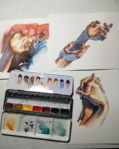 Student Watercolor Drawing Painting Diary Watercolor Paper Sketch Book Note LC