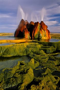 Fly Geyser in the Black Rock Desert, Nevada
