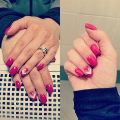 New nails #nailart #nails #unghiemania #gel #fucsia #spring #unghie