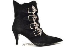 Pennangalan Minx Boots with Bat Buckles. i have wanted boots like these for the longest time. yummy black leather with bats? sign me up.