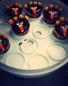 Fun #Thanksgiving cupcakes made by an Our Town America employee. Gobble till you Wobble. :-)  What are your co-workers making this holiday?