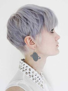 short dark blonde hair with colored tips - Google Search