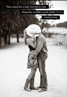 cowboy kissing cowgirl