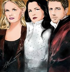 Stunning #OUAT fan art from #Oncer Zia Franny!