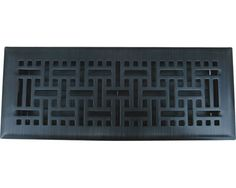 Oil Rubbed Bronze Wicker Floor Register - This is our most popular register style on floorregisterresources.com   Do you love these vents as much as everyone else does?