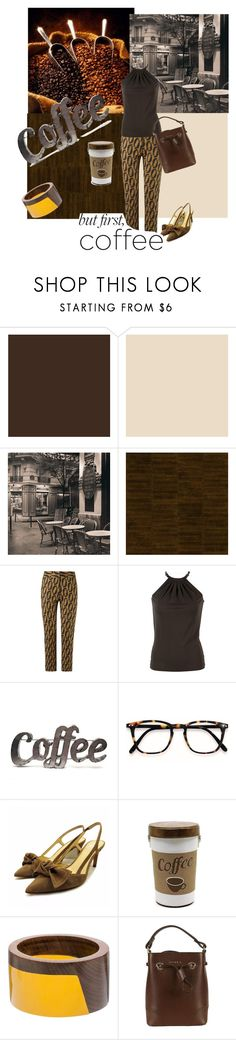 """I Enjoy a Cup of Coffee"" by lindsaywassel ❤ liked on Polyvore featuring Élitis, Andrea Marques, Michael Kors, Rustic Arrow, Marni and Furla"