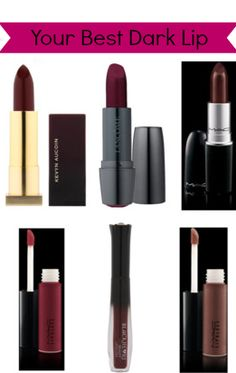 Embrace the Fall's latest trend of deep, dark lips! Tips on how to find the best color for you!