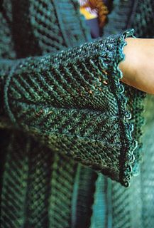 Peacock Cardigan by Gina Wilde. Published in The Alchemy of Color Knitting