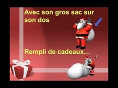 """""""Le gentil Pere Noel"""" from Matt Maxwell's CD for students of French """"Le Loup du Nord""""--a lyrical song promoting vocabulary to describe Santa Claus. Not a whole lot going on in this one. The simple video provides clear illustrations of the key vocabulary with onscreen lyrics."""