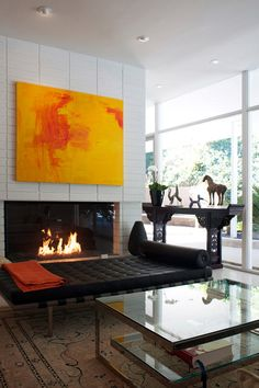 If I could only isolate the painting, I would - Guy & Jennifer's Contemporary California Modern Home